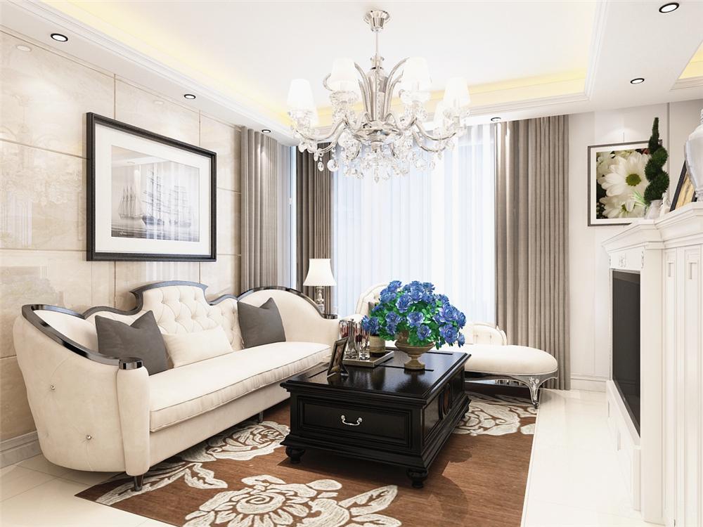三居 美式 客厅图片来自阳光力天装饰梦想家更爱家在富力尚悦居   美式风格的分享
