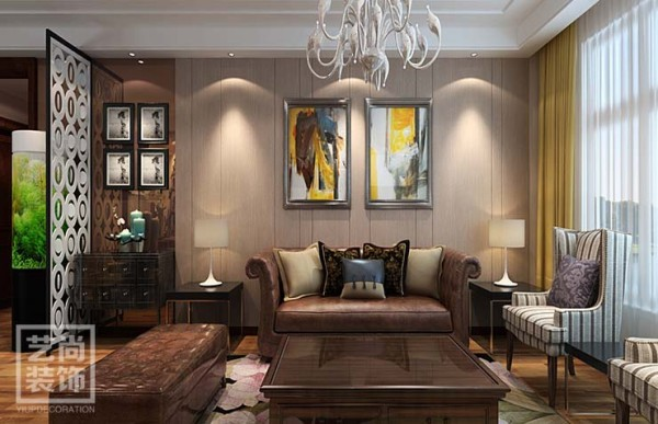 清华大溪地120平方三室两厅简欧风格装修