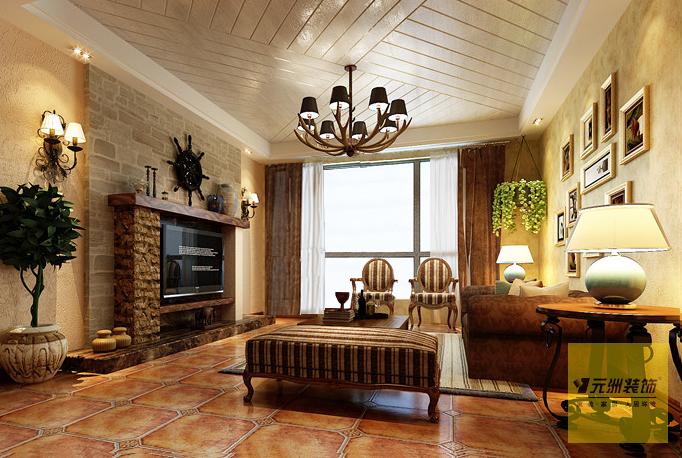 简欧 元洲装饰 复式装修 复式设计 元洲 客厅图片来自元洲装饰-江薇在旭辉御府的分享