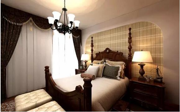 三居 美式 佳园装饰 卧室图片来自佳园装饰在保利溪湖159㎡美式风格装修案列的分享