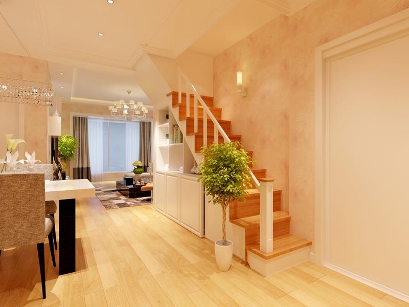 别墅 简约 80后 楼梯图片来自快乐彩在喜山150平现代简约装修设计的分享