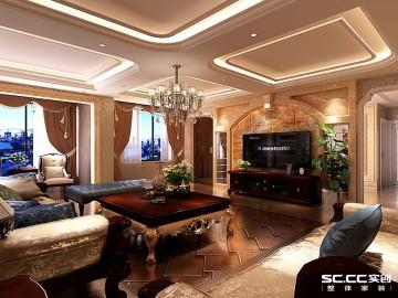 滨河绿苑300平别墅欧式风格设计