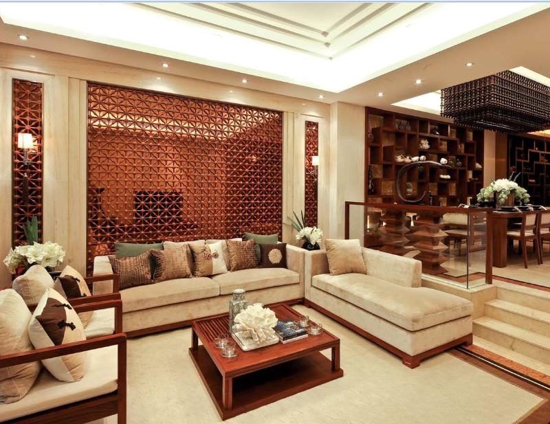 世华龙樾 装修设计 装修风格 别墅装饰 北京装修 客厅图片来自别墅装修设计yan在新中式世华龙樾的分享