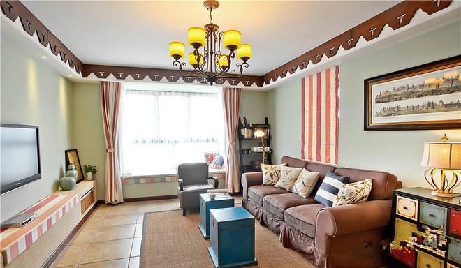 混搭 客厅图片来自四川岚庭装饰工程有限公司在浓郁色彩美式田园风的分享