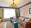 美式田园风格,整体色彩搭配独特,家居也都定制成做旧美式风格。