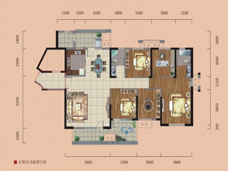 美臣维度 龙阳一号 简约中式 户型图图片来自武汉美臣维度全案设计在龙阳一号188平简约中式风的分享