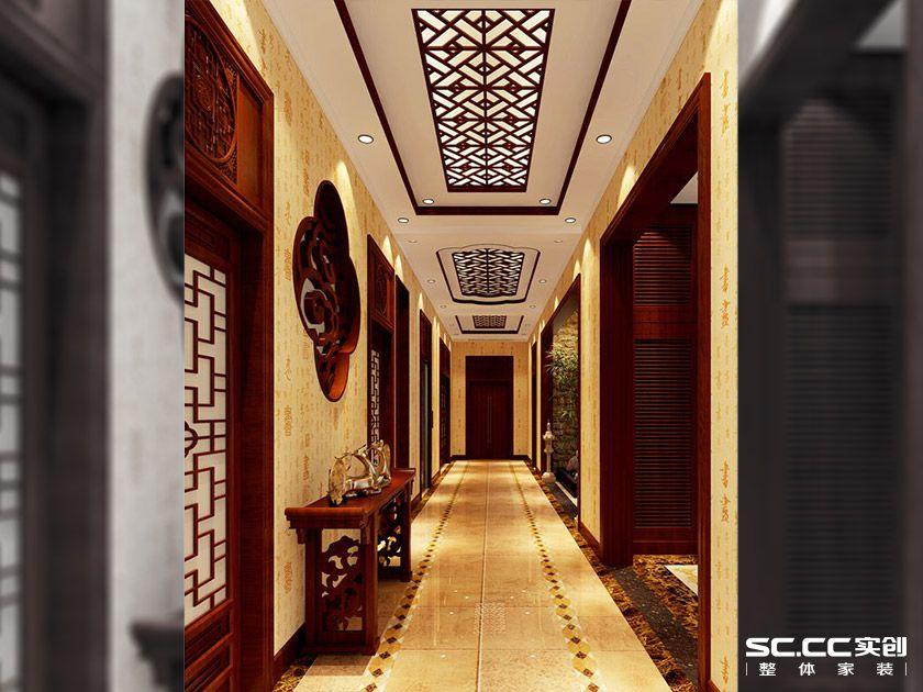 别墅设计 中式风情 大户型装修 玄关图片来自郑州实创装饰-杨淑平在商丘虞城别墅840平中式设计的分享
