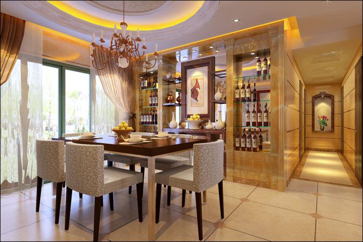 餐厅图片来自cdxblzs在中稂祥云 140平米 现代欧式 四室的分享