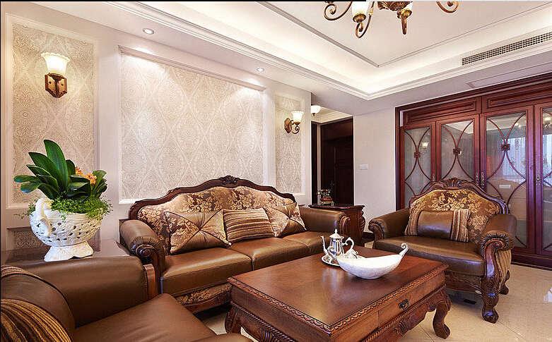 简约 欧式 田园 混搭 四居室 白领 80后 美式 珠江御景湾 客厅图片来自成都V2装饰在珠江御景湾美式风格的分享