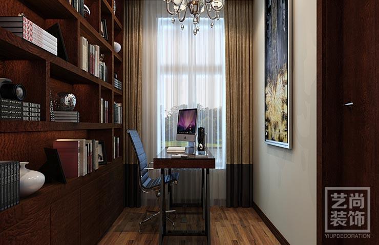 简欧装修 装修效果图 清华大溪地 120平方 书房图片来自艺尚设计在清华大溪地120平方简欧三室装修的分享