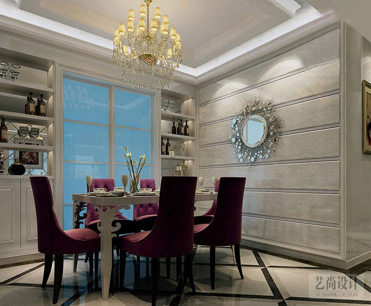 梧桐新语 装修案例 装修效果图 样板间 134平方 餐厅图片来自艺尚设计在梧桐新语装修134平方三室两厅的分享