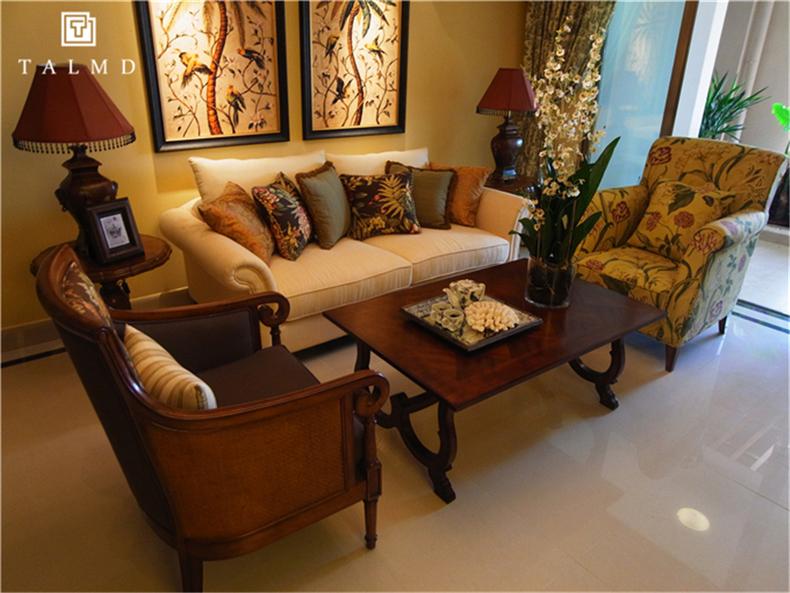 两居室 休闲美式 客厅图片来自TALMD图迈家居在【TALMD案例】美式风格·红树湾的分享