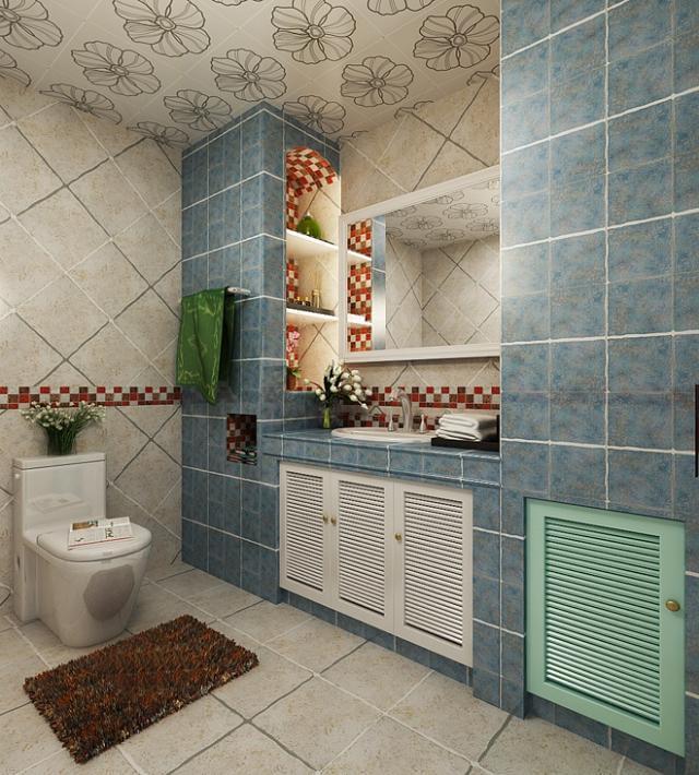 厨房图片来自四川岚庭装饰工程有限公司在暖暖海风 地中海风情三居的分享