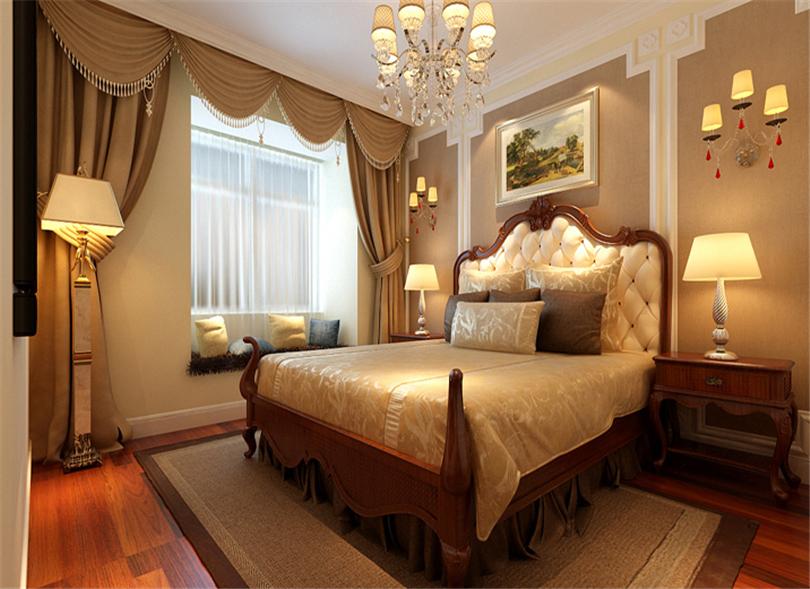 三居 白领 收纳 80后 小资 卧室图片来自实创装饰完美家装在华贸城140平简欧风格案例赏析的分享