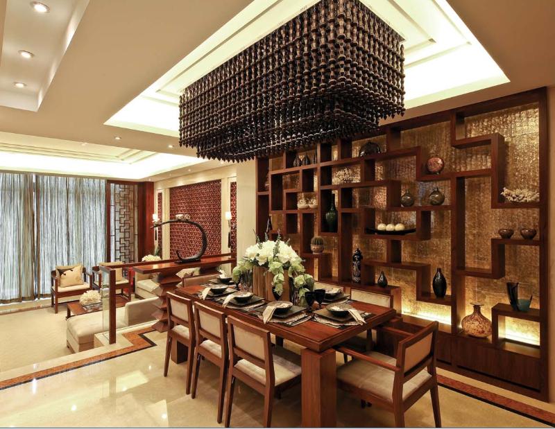 世华龙樾 装修设计 装修风格 别墅装饰 北京装修 餐厅图片来自别墅装修设计yan在新中式世华龙樾的分享
