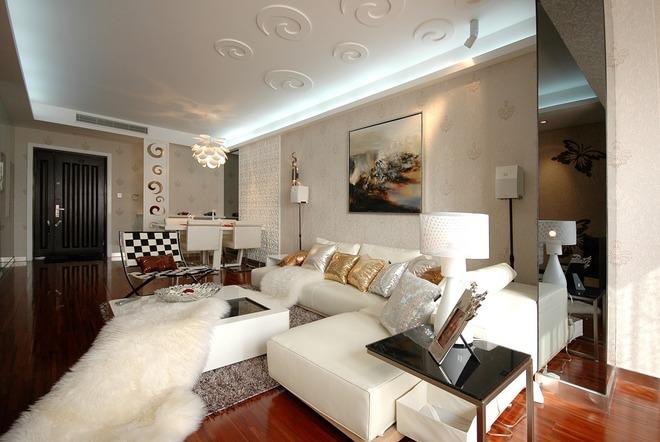 客厅图片来自四川岚庭装饰工程有限公司在浪漫和艺术的相遇的分享