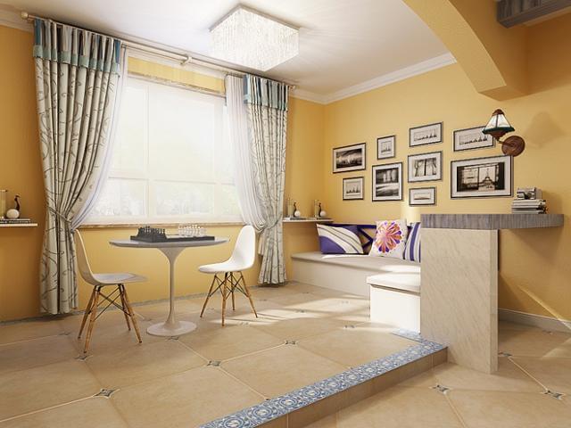 阳台图片来自四川岚庭装饰工程有限公司在暖暖海风 地中海风情三居的分享