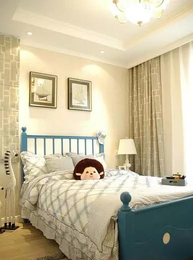 二居 地中海 旧房改造 客厅 卧室 儿童房 书房 餐厅 厨房 儿童房图片来自实创装饰晶晶在闵行75平老房小俩居地中海洋风的分享
