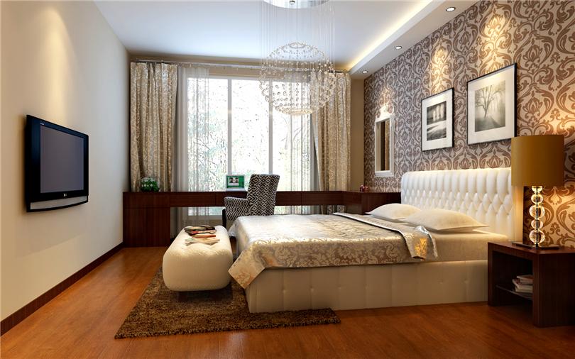 简约 三居 白领 收纳 80后 小资 卧室图片来自实创装饰完美家装在媒体村120平简约时尚案例赏析的分享