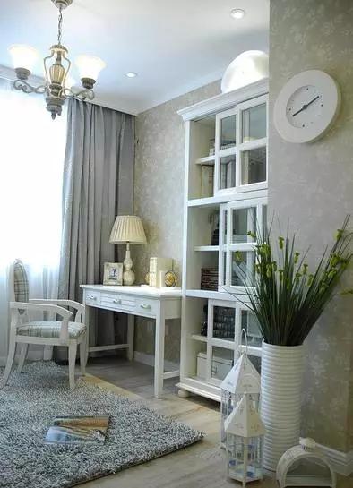 二居 地中海 旧房改造 客厅 卧室 儿童房 书房 餐厅 厨房 书房图片来自实创装饰晶晶在闵行75平老房小俩居地中海洋风的分享