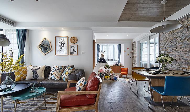 简约 欧式 三居 阳光房 客厅图片来自佰辰生活装饰在舒适阳光房 140平北欧简约风的分享