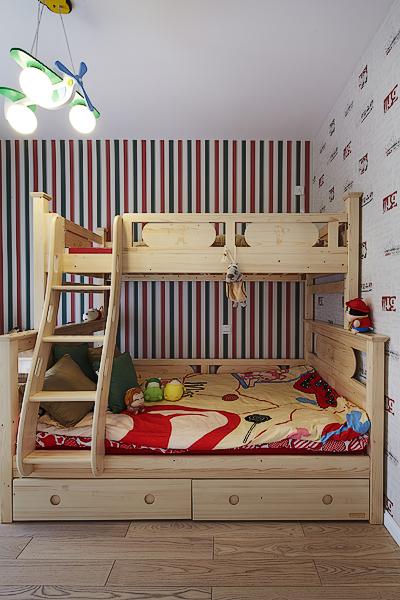 卧室图片来自四川岚庭装饰工程有限公司在90平米现代美式混搭三室两厅的分享