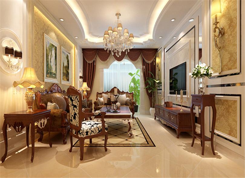 三居 白领 收纳 80后 小资 客厅图片来自实创装饰完美家装在华贸城140平简欧风格案例赏析的分享