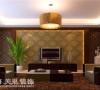 丰庆华府142平三室两厅现代简约客厅电视墙装修样板间