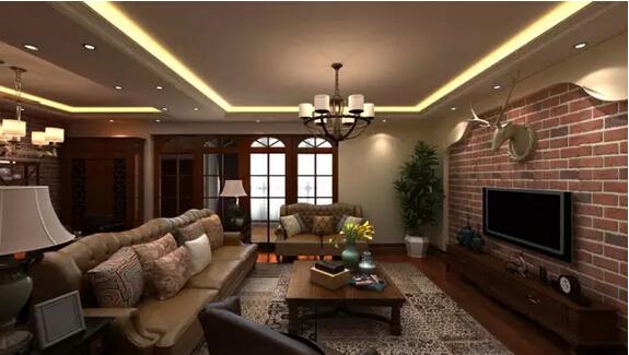 三居 美式 佳园装饰 客厅图片来自佳园装饰在保利溪湖159㎡美式风格装修案列的分享