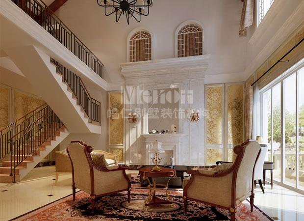 客厅图片来自鸣仁装饰在260平石家庄国际城新古典风格的分享