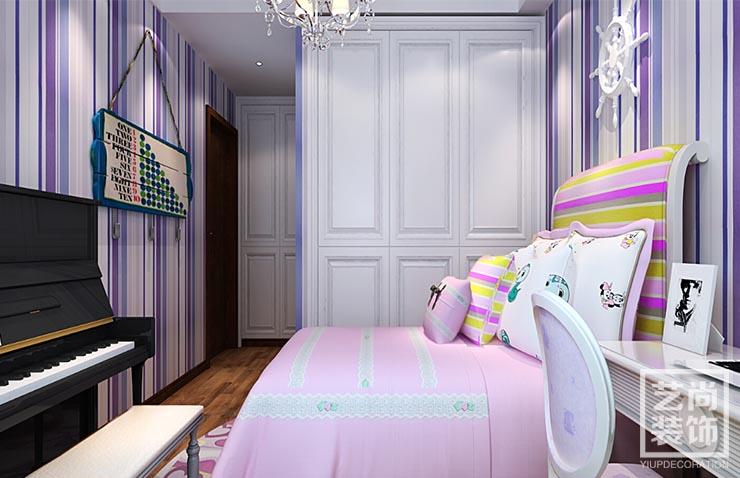 简欧装修 装修效果图 清华大溪地 120平方 卧室图片来自艺尚设计在清华大溪地120平方简欧三室装修的分享