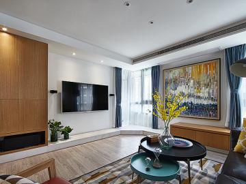 温馨明朗140平现代北欧4居室