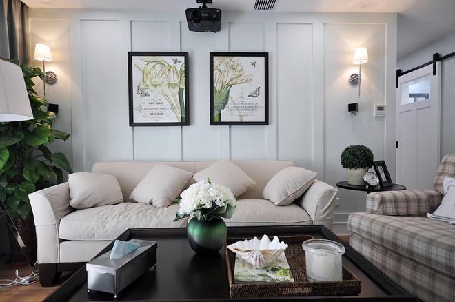 客厅图片来自四川岚庭装饰工程有限公司在简约美式三房两厅的分享
