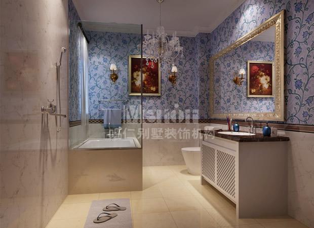 鸣仁别墅 别墅设计 客厅图片来自鸣仁装饰在260平石家庄国际城新古典风格的分享