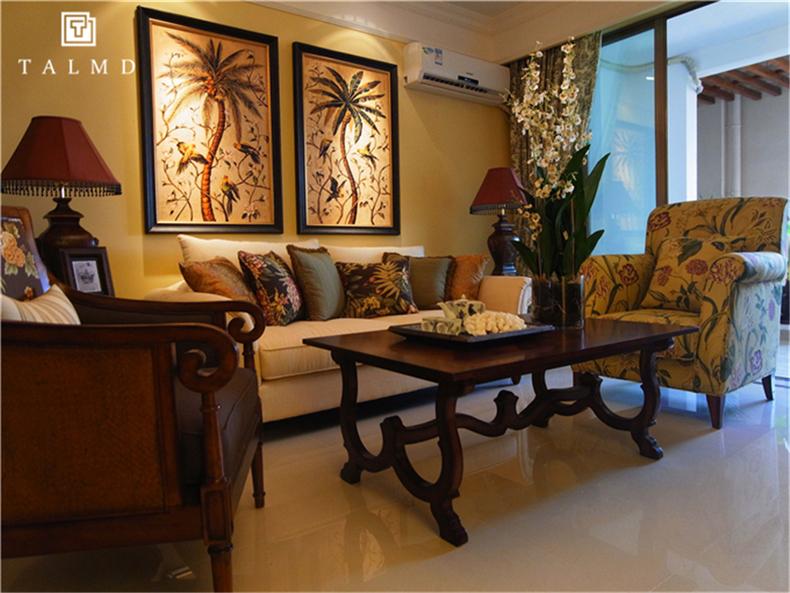 两居室 休闲美式 高端家具di 客厅图片来自TALMD图迈家居在【TALMD案例】美式风格·红树湾的分享