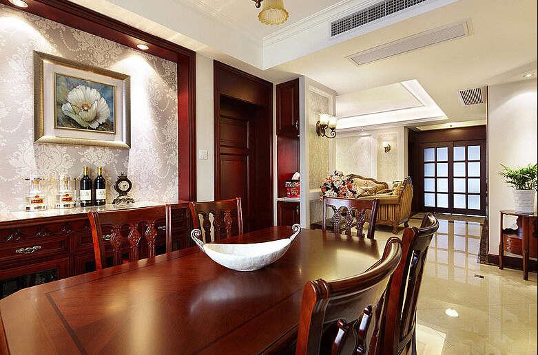 简约 欧式 田园 混搭 四居室 白领 80后 美式 珠江御景湾 餐厅图片来自成都V2装饰在珠江御景湾美式风格的分享