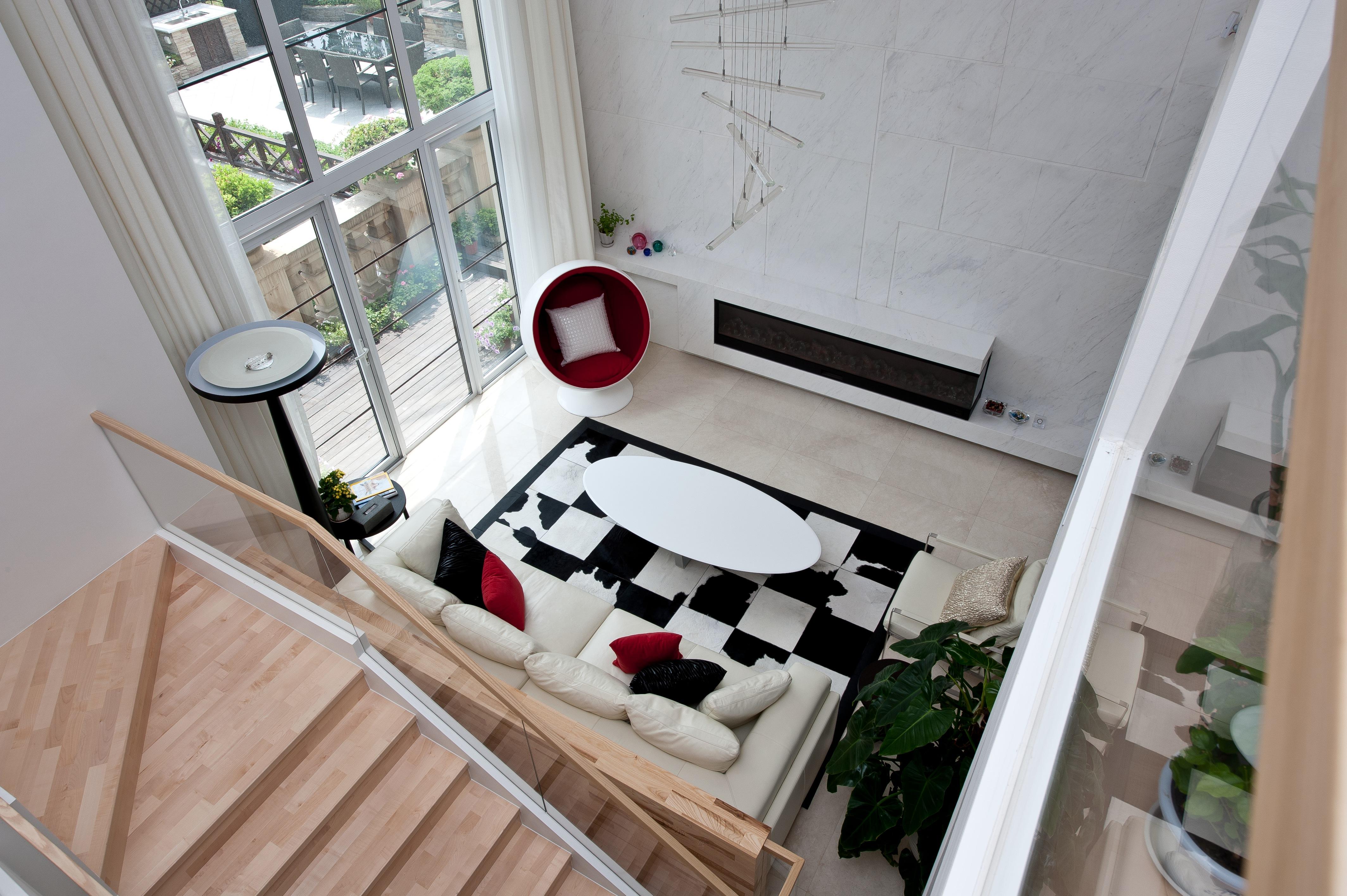 简约 别墅 法兰西世家 上海尚层 客厅图片来自上海尚层装饰官网在法兰西世家别墅装修效果图的分享