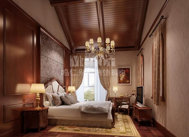 鸣仁别墅 别墅设计 卧室图片来自鸣仁装饰在260平石家庄国际城新古典风格的分享