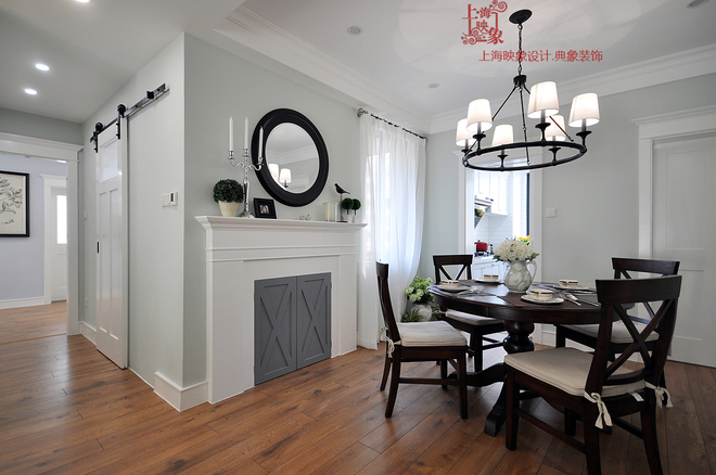 餐厅图片来自四川岚庭装饰工程有限公司在简约美式三房两厅的分享
