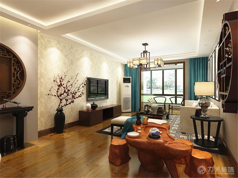 四居 80后 小资 简约 中式 客厅图片来自阳光放扉er在力天装饰-桂荷园134㎡的分享