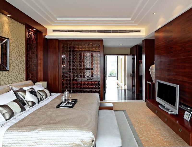 世华龙樾 装修设计 装修风格 别墅装饰 北京装修 卧室图片来自别墅装修设计yan在新中式世华龙樾的分享