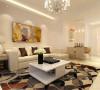 开放式的客厅设计给人以通透之感,电视墙采用温和的灯光和柔美的花纹壁纸,沙发采用米黄色视觉上会更加亲近舒适,简单的茶几显得更加悠闲随意。