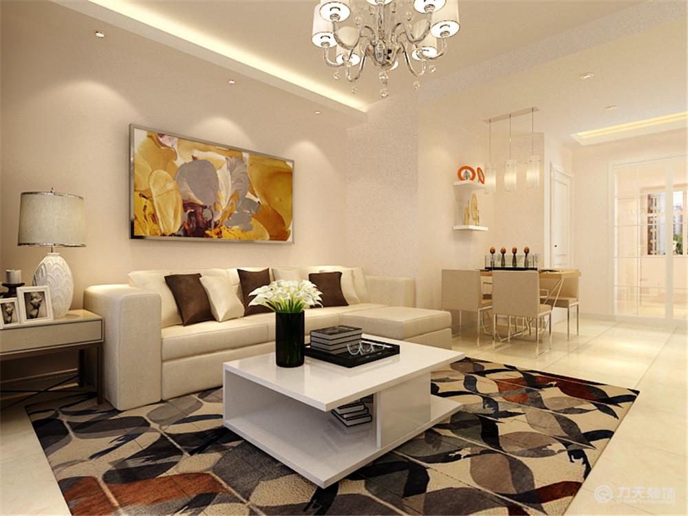 简约 二居 客厅图片来自阳光力天装饰梦想家更爱家在天房美域   现代风格的分享