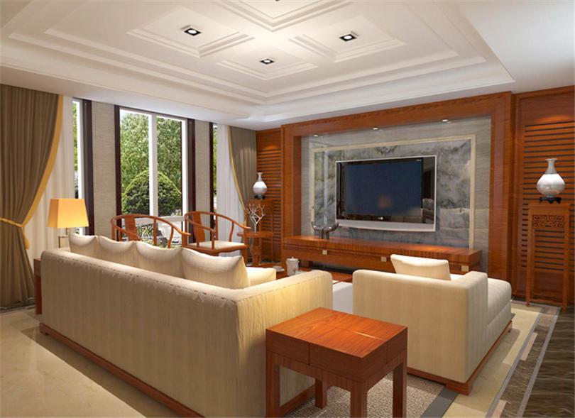 混搭 三居 白领 收纳 旧房改造 小资 80后 客厅图片来自实创装饰完美家装在孔雀城英国宫254平简中风格案例的分享