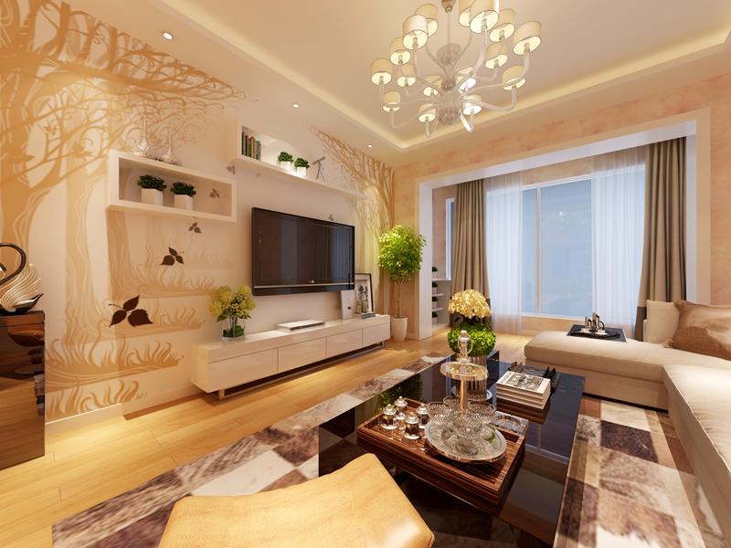 别墅 简约 80后 客厅图片来自快乐彩在喜山150平现代简约装修设计的分享