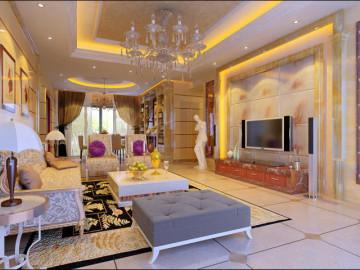 中稂祥云 140平米 现代欧式 四室