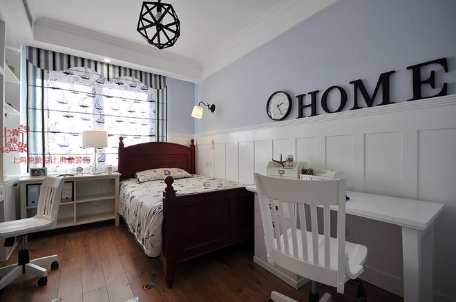 卧室图片来自四川岚庭装饰工程有限公司在简约美式三房两厅的分享