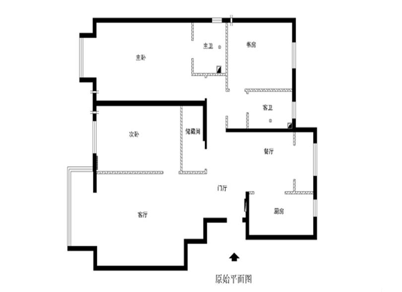 三居 白领 收纳 80后 小资 户型图图片来自实创装饰完美家装在华贸城140平简欧风格案例赏析的分享