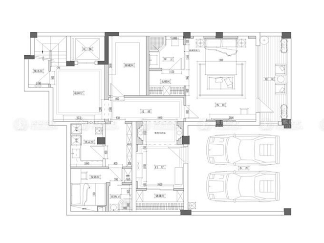 松江别墅 别墅装修 别墅设计 新中式风格 腾龙设计 林财表作品 户型图图片来自林财表在松江500平别墅装修新中式风格的分享