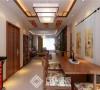 方林装饰中海城130平新中式风格